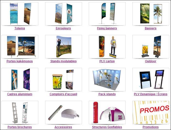 Exemple de publicités lieux de vente